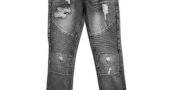 Mens premium Denim Taper Fit Black jeans Urban Slim Pants by Bleeker /& Mercer