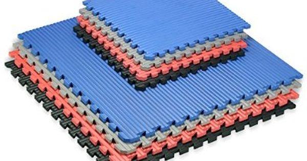 We Sell Mats Black 16 Sq Ft 24 X24 Extra Thick 4 Tiles Plus Borders Martial Arts Exercise Fitness Anti Fati Gym Flooring Tiles Gym Flooring Foam Flooring