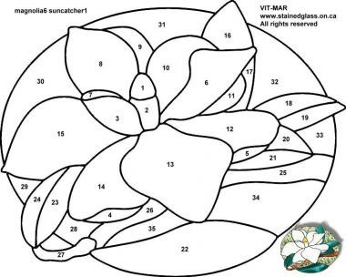 Free Stained Glass Magnolia Pattern How To Resize Images How