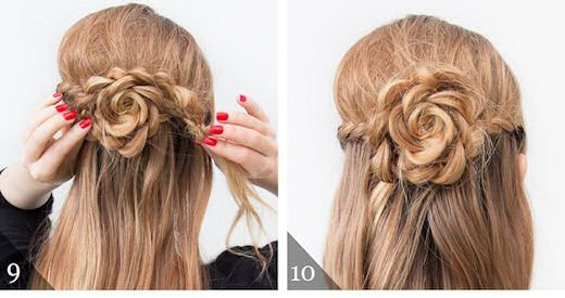 The Half Up Lace Rose Hairstyle Rose Hair Hair Styles Braided Hairstyles Tutorials Easy