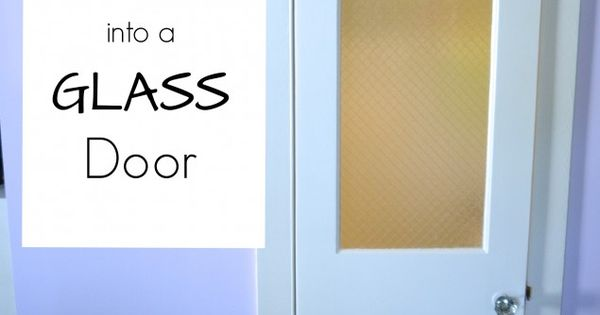 Changing a panel door into a glass door powder room and for Powder room door size