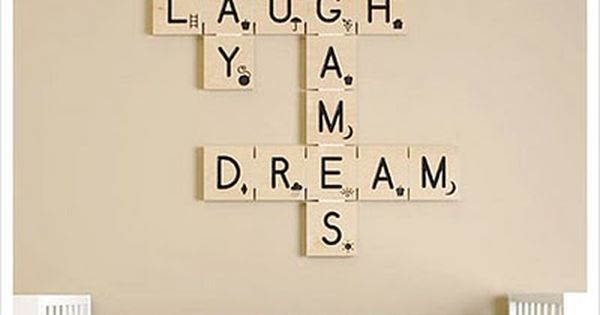 scrabble wall art- idea could be used anywhere in your home!
