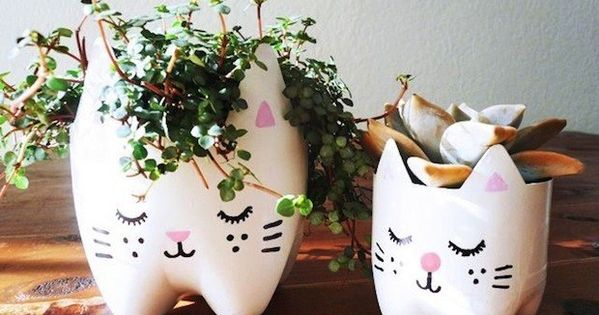 These adorable planters are made from recycled soda bottles.   33 Impossibly