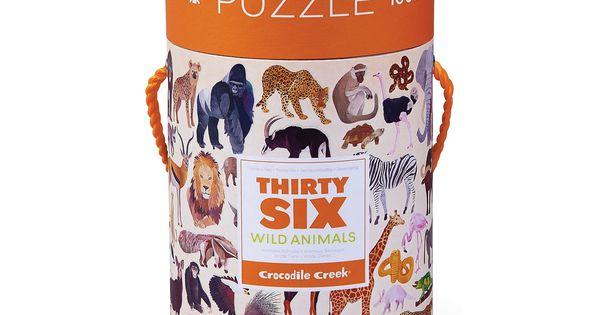 Thirty Six Wild Animals Jigsaw Puzzle 100 Pcs Multicolor Crocodile Creek Animals Wild Crocodile Creek Animal Puzzle