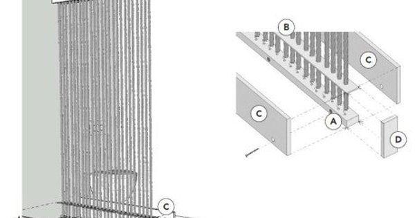 Comment Realiser Une Cloison En Cordes Leroy Merlin Avec Images Cloison Porte Diy Maison