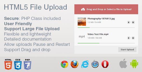Html5 File Upload With Images Html5 Website Template Uploads