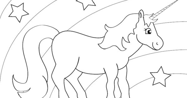 rainbow unicorn coloring sheet - Google Search | Birthday ...