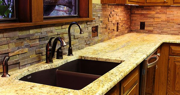 Texas Decor Rearranging The Tops Of My Kitchen Cabinets: Stacked Stone Backsplash For Kitchens