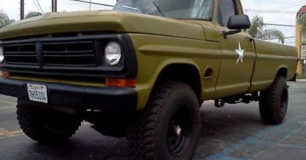 1977 F250 Army Trucks 170628224141 1972 Ford F250 Highboy 4x4 4 Spd Military Truck Ford Trucks Diesel Trucks Trucks