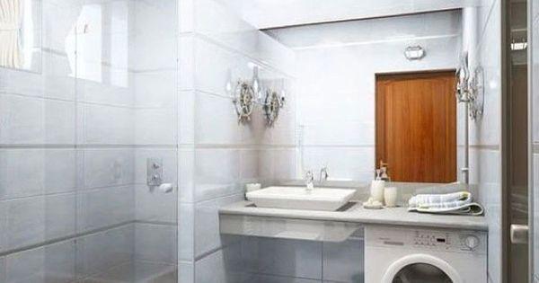 Arredare un bagno piccolo quadrato - Bagno piccolo con lavatrice