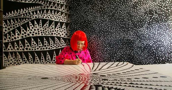 Yayoi Kusama has inspired me to look at the polkadot with fresh