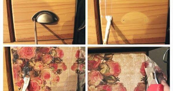 alte kommoden mit serviettentechnik aufm beln home. Black Bedroom Furniture Sets. Home Design Ideas