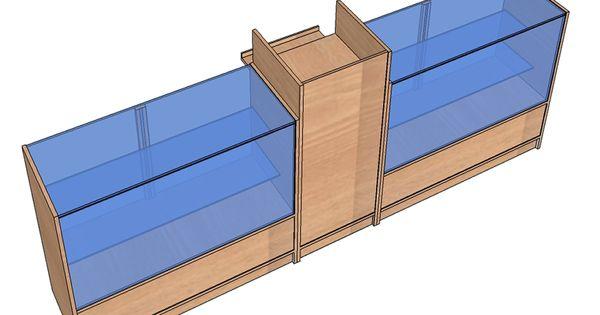 Vitrinas mostrador con mueble caja - Mostradores de diseno ...