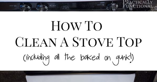 how to clean baked on grease from stove top