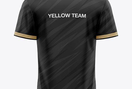 Download Download Men S V Neck Esports Jersey Mockup Back View Psd Clothing Mockup Mockup Free Psd Shirt Mockup