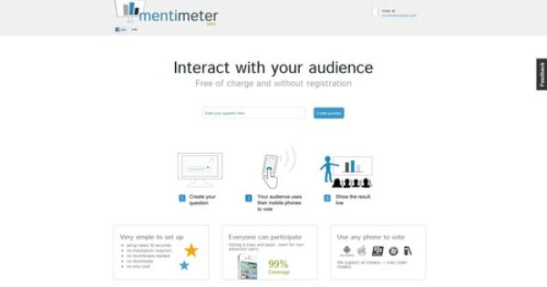 The Mentimeter Interact With Your Audience Used Tools