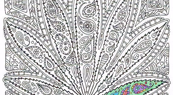 Adult Coloring Page Got Leaf Printable Pot Leaf By