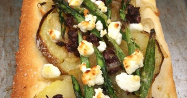 Asparagus and Potato Flatbread | Yummy things to eat and drink ...