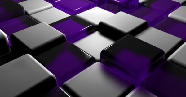 Abstract purple 3d art purple white cubes 3d and cg for Purple wallpaper 3d
