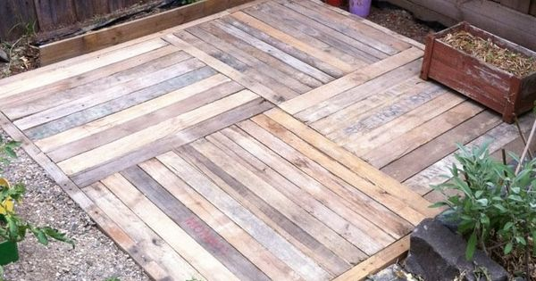 Pallet deck garden pinning picture only for reference for Garden decking from pallets