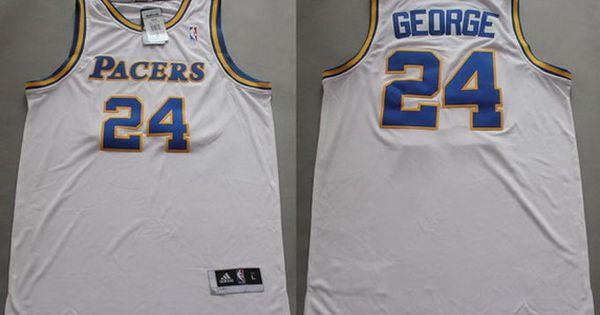 Indiana Pacers 24 Paul George ABA Hardwood Classic Swingman White Jersey  NBA jersey ... ba79ecd35