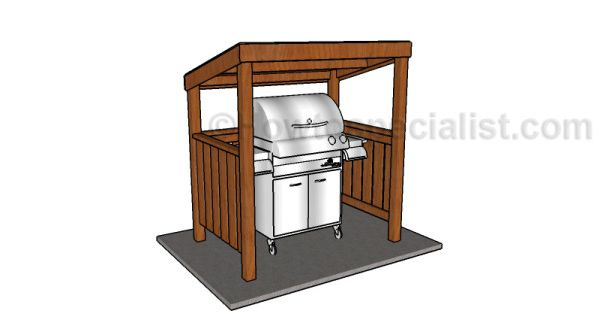 Do It Yourself Home Design: Grill BBQ Shelter Plans