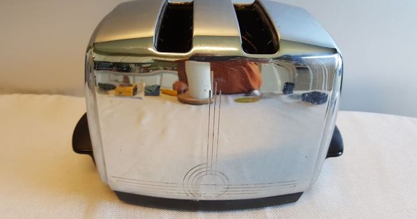 vintage 50 s sunbeam t 20b art deco style automatic drop toaster kitchen pinterest best. Black Bedroom Furniture Sets. Home Design Ideas