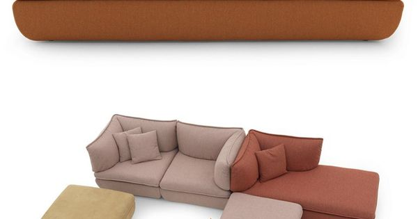 MIMIC Sectional fabric #sofa by DE PADOVA #design Monica Förster
