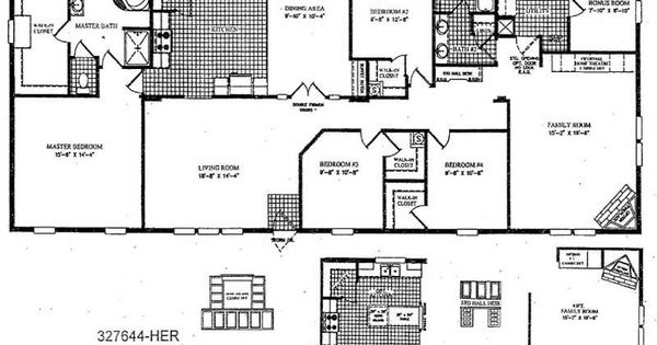 2 Bedroom Double Wide Mobile Home Floor Plans