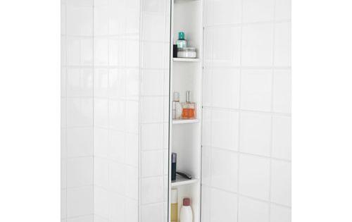 brickan spegel med f rvaring vit ikea. Black Bedroom Furniture Sets. Home Design Ideas