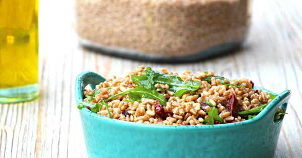 Farro salad, Salads and Kalamata olives on Pinterest