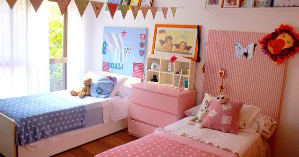 Habitaci n compartida ni o ni a habitaciones infantiles - Habitaciones infantiles nina ...