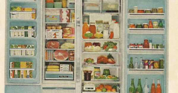 Kelvinator Foodarama Refrigerator Original 1965 Vintage