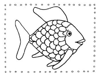 Rainbow Fish Friendship Writing Activity Rainbow Fish Template Rainbow Fish Rainbow Fish Coloring Page