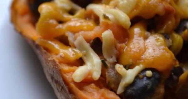 Sweet potato skins, Mexican sweet potatoes and Galleries on Pinterest