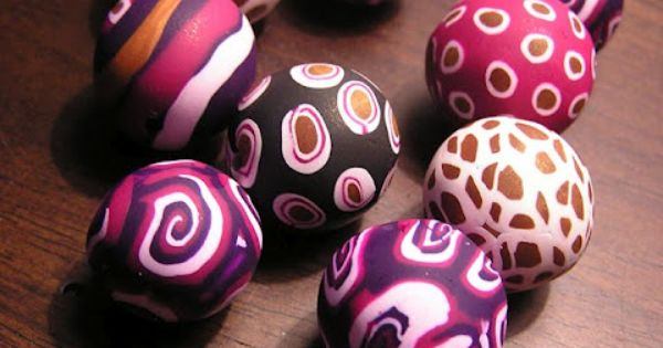 fimo balls. great stuff