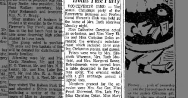 December 14th 1962 Gaye Rodgers Yule Party Yule Party December
