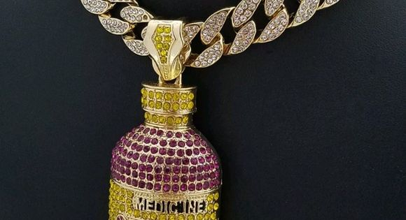 Syrup Bottle Pendant W 16 Full Iced Cuban Set Syrup Bottle Pendant W 16 Full Iced Cuban 1 Row Diamond Cho Pendant Jewelry Necklace Pendant Mens Jewelry