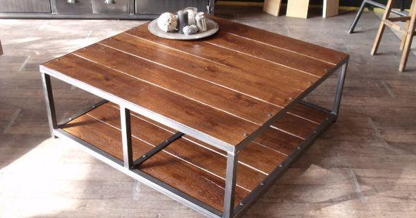 Table Basse Carr E En Bois Et M Tal Fabrication