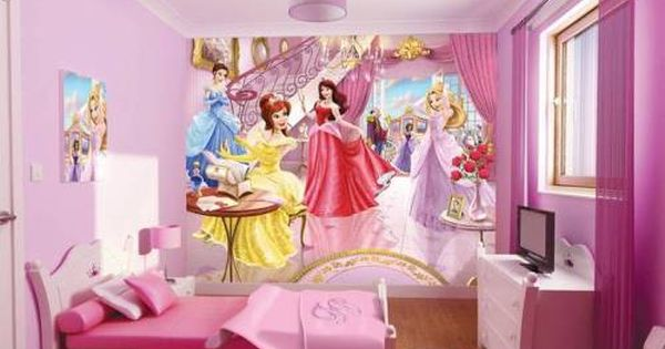 Disney Princess Bedroom Furniture For Girls The Interior Design Inspiration Board Girls Room Wallpaper Kid Room Decor Kids Room Wallpaper
