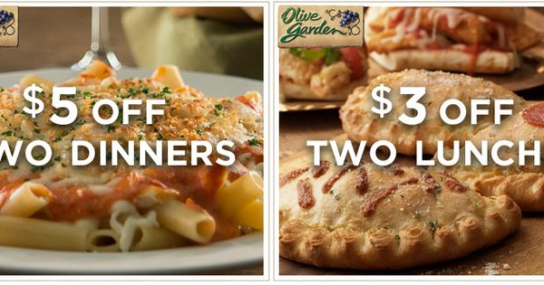Free coupons olive garden restaurant