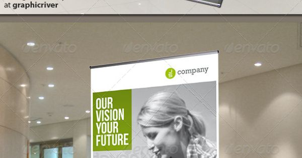 Corporate Banner or Rollup GraphicRiver Modern and clean design for banner/rollup. Perfect