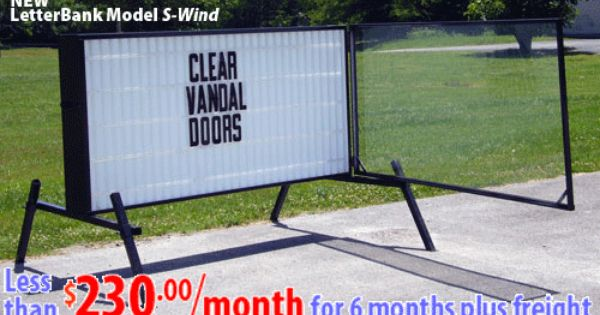 S Wind 4x8 Readerboard With Wind Covers Cover Portable Signs Clear