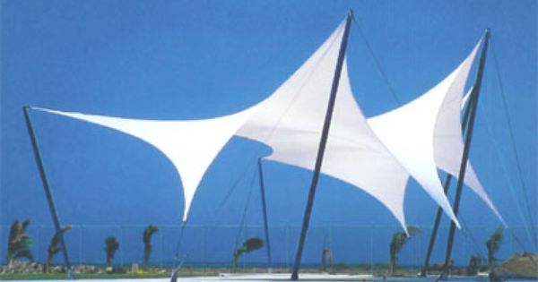 Tension Fabric Structures : Tensioned fabric structure this technology could be used