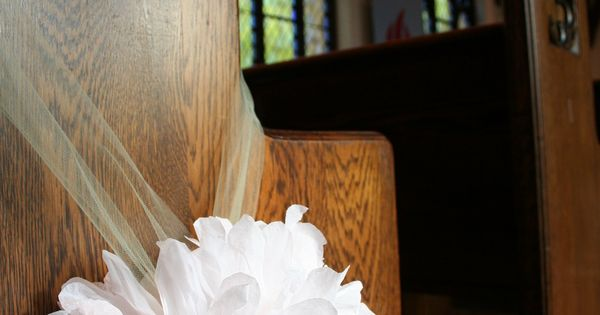 Wedding pew decoration