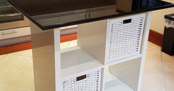 Ikea kallax hack for kitchen island home pinterest for Estanterias cocinas pequenas