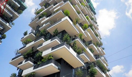 New Photos Show 'Bosco Verticale' Vertical Forest Nearing