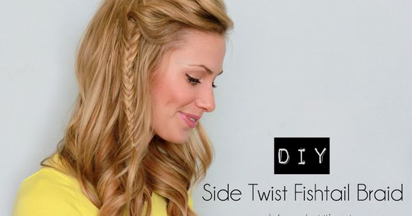 Braided Hair Style: Side Twist Fishtail Braid