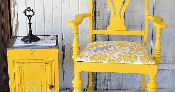 Bright Bold And Beautiful Yellow Chair Revival Diy Paint
