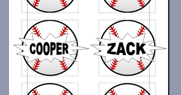 Salt and Pepper Moms: Baseball Snack Tags